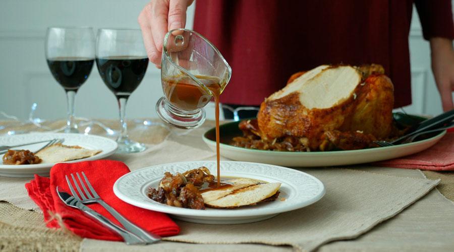 receta navidad facil pularda rellena
