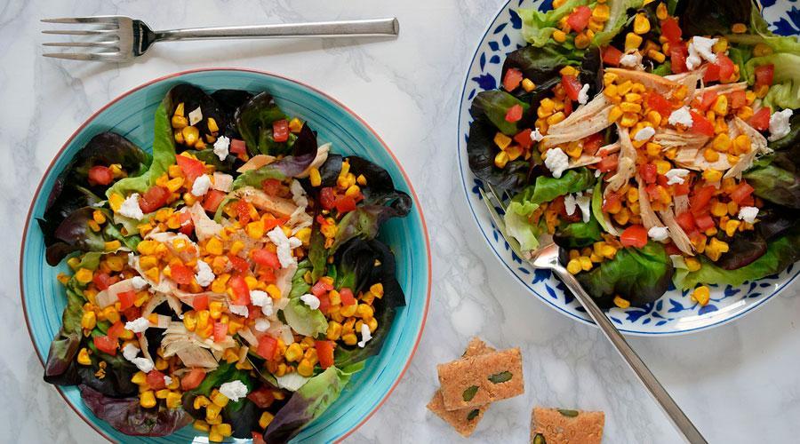 recetas saludables post navidad ensalada maiz pollo